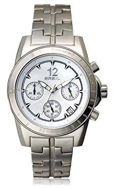 Breil Milano マザーオブパール&ステンレススチールクロノグラフ腕時計 – シルバー