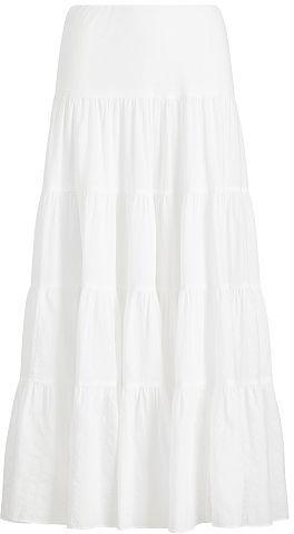 Ralph Lauren Lauren Tiered Cotton Maxiskirt