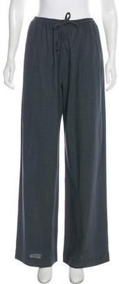 eskandar Wool High-Rise Wide Pants
