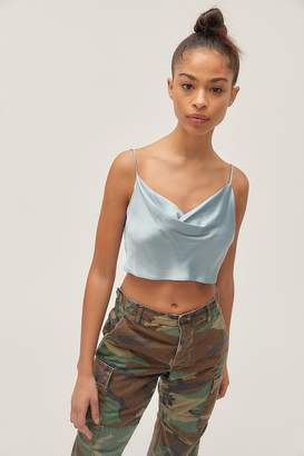 Urban Outfitters Irina Cowl Neck Tie-Back Cropped Cami