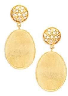 Rivka Friedman Crystal Wavy Oval Drop Earrings