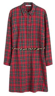 Violeta BY MANGO Check belt dress