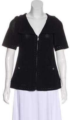 Chanel Mesh Zip-Up Jacket
