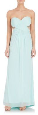 La Femme Strapless Crystal-Detail Gown $379 thestylecure.com