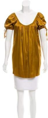 Miguelina Silk Short Sleeve Top