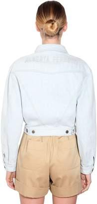 Alberta Ferretti Logo Cotton Denim Jacket