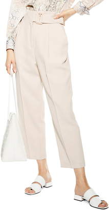 Topshop Wilma Belted Peg Tapered Trousers