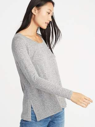 Old Navy Maternity Relaxed Plush-Knit Side-Slit Nursing Top