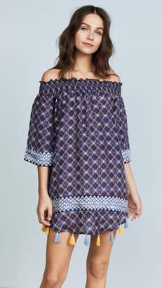 Bindya Tie Dye Silk Off Shoulder Dress