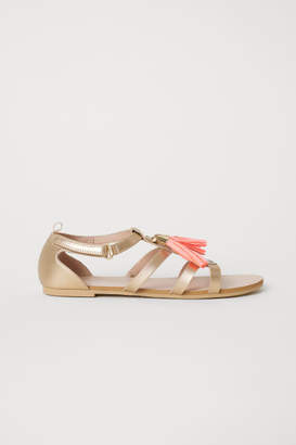 H&M Sandals with Appliques - Gold