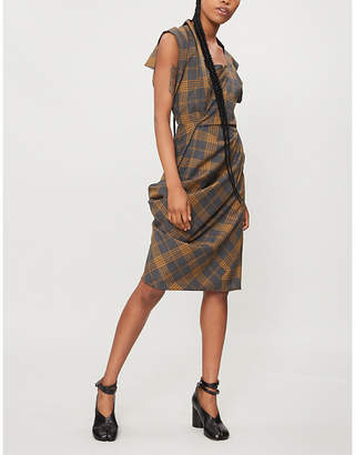 Vivienne Westwood Fond checked wool dress