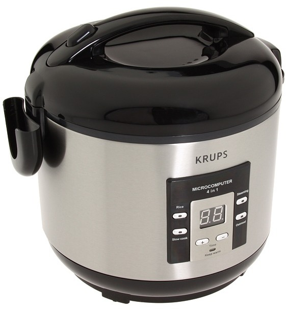 Krups RK7009 4-in-1 5-Cup Rice Cooker (Stainless Steel) - Home
