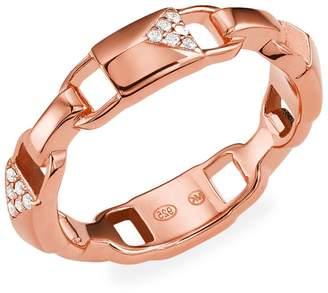 Michael Kors Mercer 14K Rose Gold Sterling Silver Crystal Link Ring