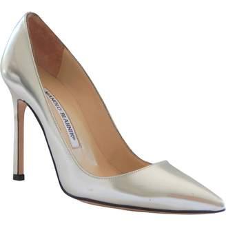 Manolo Blahnik Silver Patent leather Heels