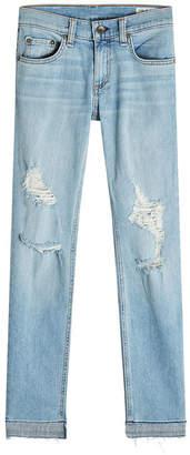 Rag & Bone Dre Capri Distressed Jeans
