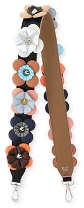 Fendi Strap You Flowerland Shoulder Strap for Handbag, Black/Multi $1,250 thestylecure.com