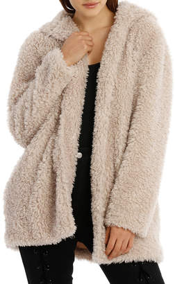 Miss Shop Teddy Hooded Coat