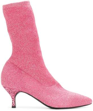 Strategia glitter sock boots