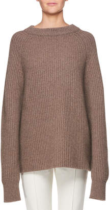 The Row Connor Crewneck Long-Sleeve Cashmere Top