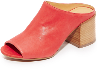 MM6 Open Toe Mules $495 thestylecure.com