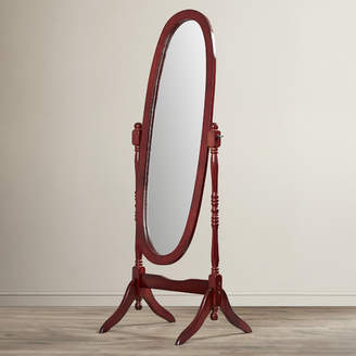 Andover Mills Oval Wood Floor Mirror