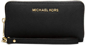 Michael Kors Saffiano Jet Set Travel Flat Multifunction Wallet