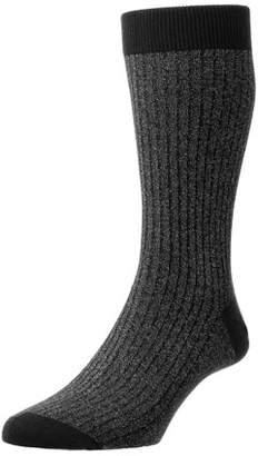 Pantherella Scala Soft-Touch Sparkle Tuxedo Socks