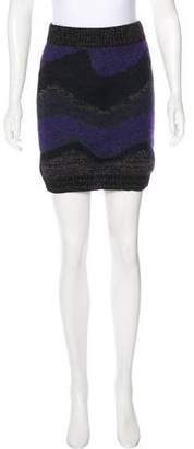 Opening Ceremony Patterned Knit Skirt