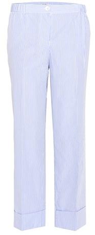Miu MiuMiu Miu Striped cotton cropped trousers