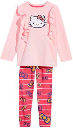 Hello Kitty Little Girls Ruffle Tunic & Leggings Set