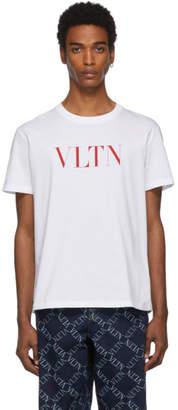 Valentino White and Red VLTN T-Shirt
