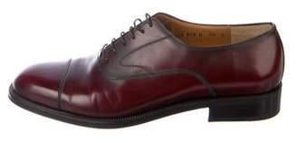 Salvatore Ferragamo Patent Leather Round-Toe Oxfords