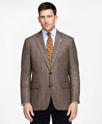 Brooks Brothers Madison Fit Saxxon Wool Tonal Check with Black Deco Sport Coat
