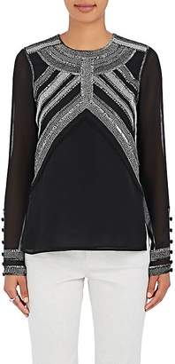 Derek Lam WOMEN'S EMBELLISHED GEORGETTE BLOUSE