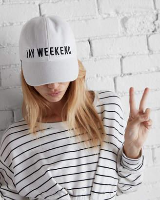 Express Yay Weekend Textured Baseball Hat