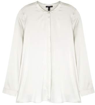 Eileen Fisher Off-white Silk Charmeuse Shirt
