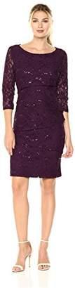 Ronni Nicole Women's 3/4 Sleeve Tiered Lace Sheath