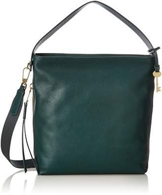 Fossil Damen Tasche Maya - Small Hobo, Women's Shoulder Bag, Grün (Alpine Green), 10.8x29.9x32.7 cm (B x H T)