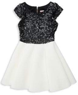 Zoe Girl's Mark Pieced Sequin Dress