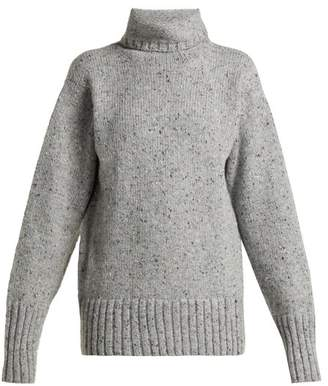 Joseph Roll Neck Wool Blend Sweater - Womens - Grey Multi