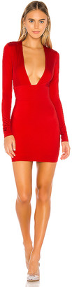 superdown Isle Deep V Mini Dress