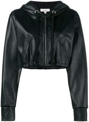 Natasha Zinko cropped faux leather hooded jacket