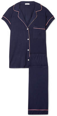 Eberjey Gisele Stretch-modal Jersey Pajama Set - Midnight blue