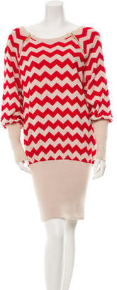 Alice by Temperley Chevron Sweater Dress $75 thestylecure.com