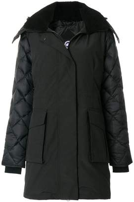 Canada Goose shearling lined hooded coat