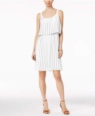 Ny Collection Pleated Popover Dress $60 thestylecure.com