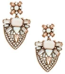 Design Lab Stone Cluster Shield Drop Earrings