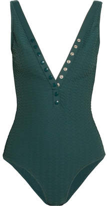 Eres Tribune Matelassé Swimsuit - Emerald