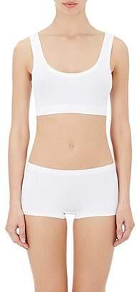 Hanro Women's Touch Feeling Crop Top Sports Bra - White