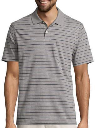 ST. JOHN'S BAY Short-Sleeve Striped Jersey Pocket Polo Shirt